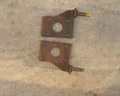 Nos Gm 1953-1959 Corvette Shock Mounting Plates.... 283 2x4 Carb Fi Ncrs