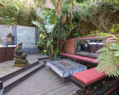 Sanitized Retreat & Hot Tub in Lush Garden/Zen & High-Tech - Corona Heights
