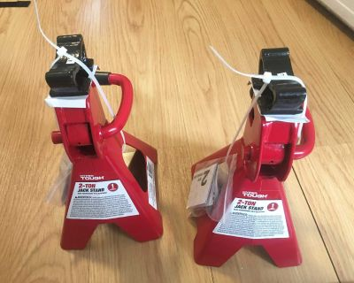 Pair of 2 Ton / 2000 pounts Jack Stands Red/Black - Total 4 Tons New