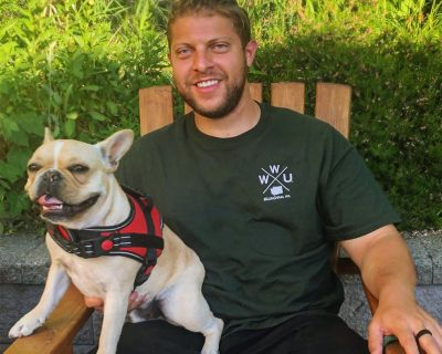Guy and his French Bulldog from the East Coast