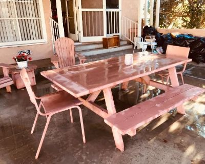 Vintage Christmas, Vintage Patio Table, Garage Full!