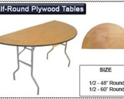 1/2 Fold Wood Folding Table - Folding Chairs and Tables Larry