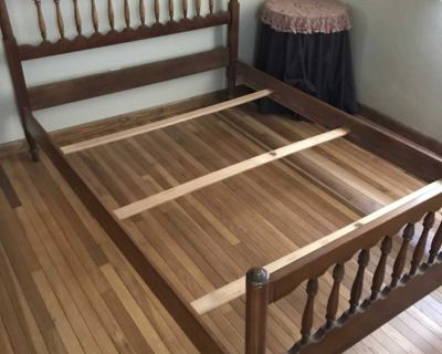 4 piece bedroom set (dresser and bed frame are cherry)