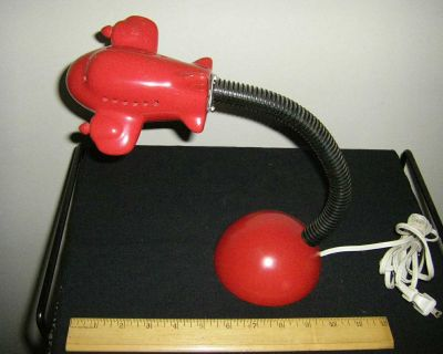 Vintage Classic early 80's IKEA Ceramic Airplane GooseNeck Desk/ Night Table Lamp, Excellent Condition, One quibble