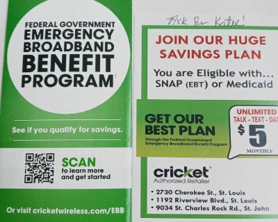If You Currently Receive SNAP(EBT) or Medicaid, You Can Apply For a $5 Monthly Phone Bill With Cricket!