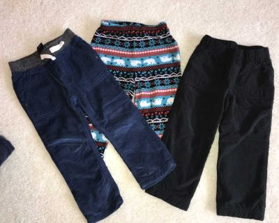 3 PCs - size 2t lined winter pants and 1 pajama bottom