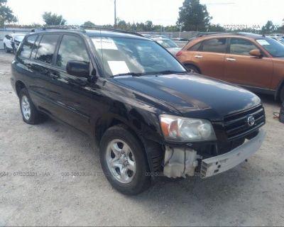 Salvage Black 2007 Toyota Highlander