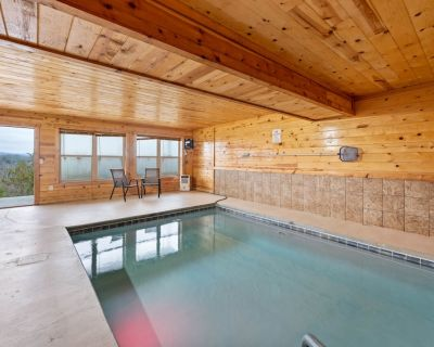 NEW! Private indoor pool and cabin with views! Wahoo Zipline discount too:) - Sevierville