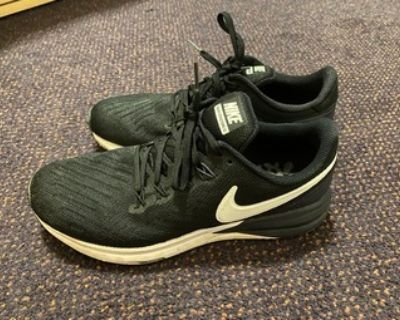 Women's Nike Air Zoom Structure 22 Running Shoes - Size 9, Black