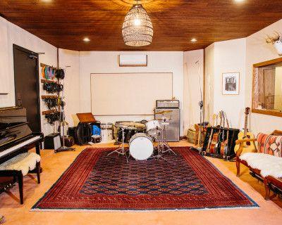 Spanish/Midcentury Inspired Recording Studio with Private Patio Oasis, Los Angeles, CA