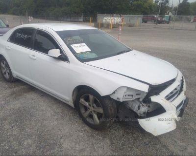 Salvage White 2011 Chevrolet Malibu