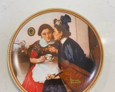 Collectible - Norman Rockwell Gossiping in the Alcove Vintage Plate