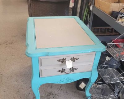 Turquoise Color Nightstand