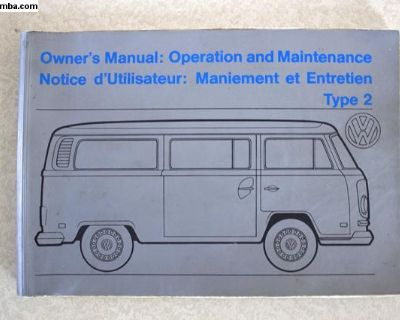 1972 VW Canada Bus Owners Manual