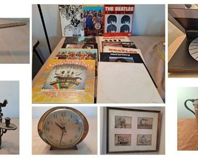 VINTAGE Auction Including Bang & Olufsen Turntable, Beatles, Clocks, Posters & Much More!