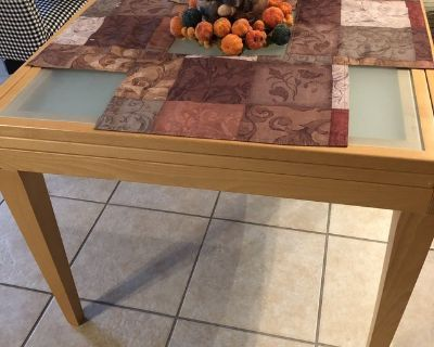 Glass/Wood Table