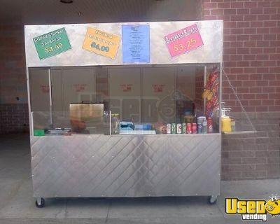 Used Hotdog Vending Cart  Street Food Vending Cart in Excellent Working Order
