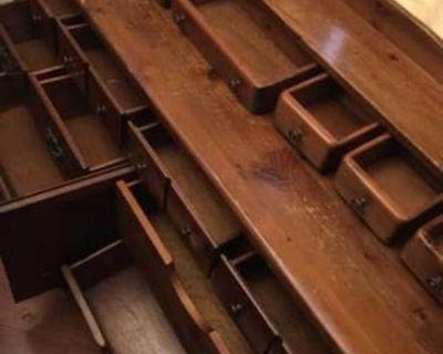 Antique Wooden Buffet Table (Read Description!)