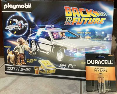 Playmobil Back to The Future Delorean (FREE BATTERIES INCLUDED)