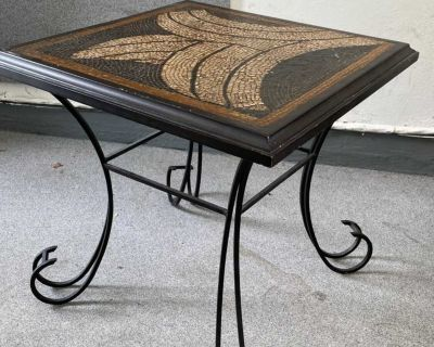 Sold wood Mosaic side table