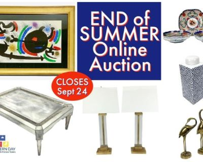 End of Summer Multi Client Online Auction By Modern Day Auctions