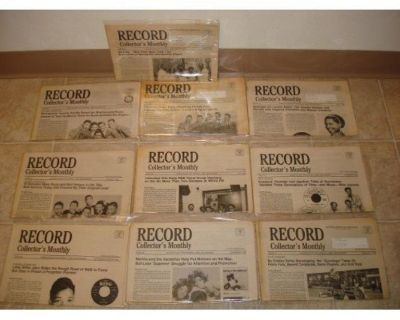 RECORD COLLECTOR'S MONTHLY ~ 10 Newsletters !