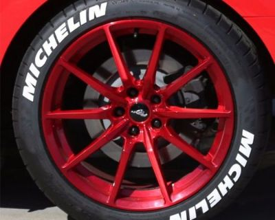 """Tire Letters - """"michelin"""" 1"""" For 18""""-19"""" Wheels (4 Decals) - Low Profile"""