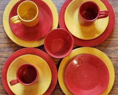 12 pieces dinnerware set Autumn beautiful colors!!!