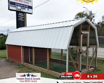8x20 Chicken Coop ** Free Delivery ** Rent to Own