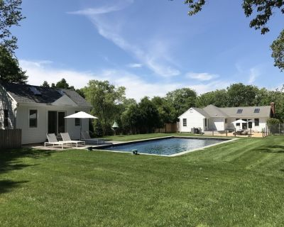 NEW! Renovated East Hampton House with Heated Saltwater Pool - Walk to Beach! - Springs