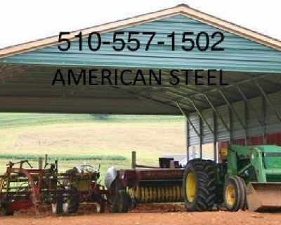 ALL STEEL METAL GARAGES SHOPS AG STRUCTURES CAR RV BOAT COVERS