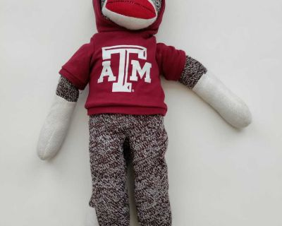 Texas A&M University Aggies Sock Monkey with Hoodie