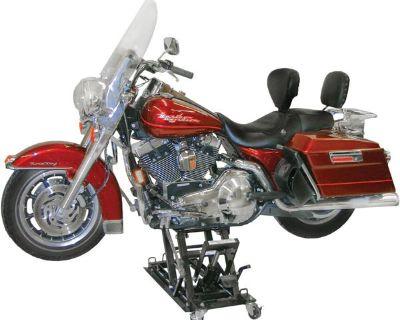 New Black Widow Motorcycle Jack + Atv Lift Stand Combo-1500# Hoist (bw-0101)