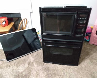 Stove and microwave together