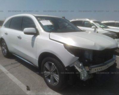 Salvage White 2020 Acura Mdx