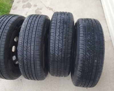 (4) 195 65 15 . 5x100 .Vw golf jetta tires and rims . like new