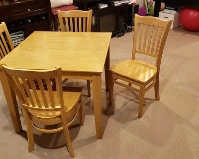 Square kitchen table with 4 chairs