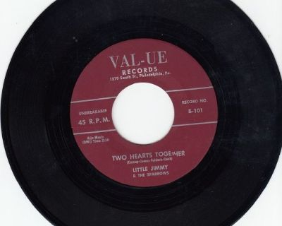 LITTLE JIMMY AND THE SPARROWS ~ Two Hearts Together *Mint-45 !