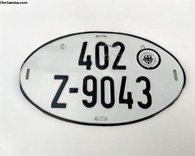 European License Plate