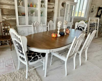 Dining table and mixed chairs