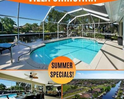 32% OFF! -SWFL Rentals - Villa Christina - Quiet Pool Home on Gulf Access Canal - Pelican