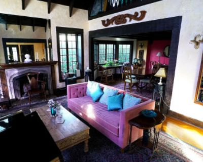 Tudor-Esque House with Baby Grand Piano, Magnificent Gardens And View of Silver Lake and Mountains, Los Angeles, CA