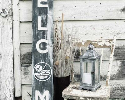 5ft Jets Welcome sign