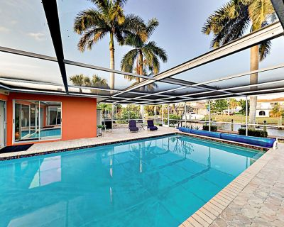 Luxurious Canal-Side Home | Caged Pool, Lanai, Sauna & Dock | River Access - Yacht Club