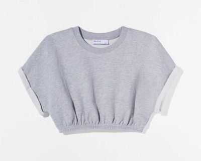 Cropped sweat top. New with tags from bershka