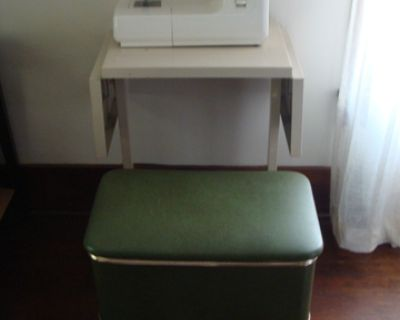 Kenmore Sewing Machine, Bench, Metal Table