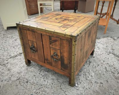 Rustic End Table Cabinet