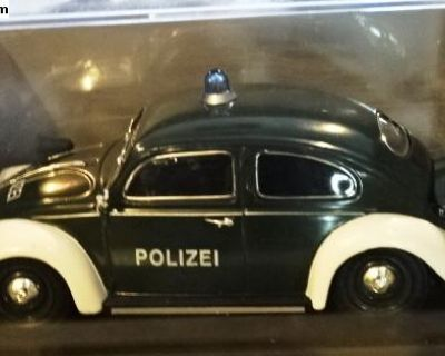 Schuco 1/32 VW Volkswagen Beetle Polizei (Police)