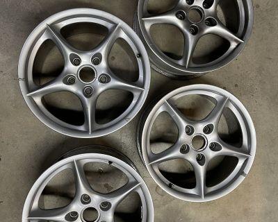 "996.2 Porsche OEM Wheels BBS 18"""