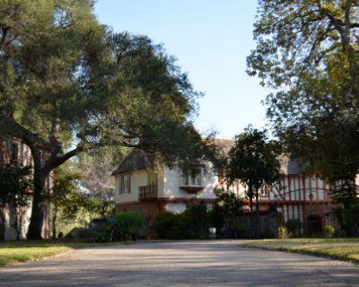 Wood-paneled Library @ Euro Vintage Sunny Gables Estate, La Canada Flintridge, CA